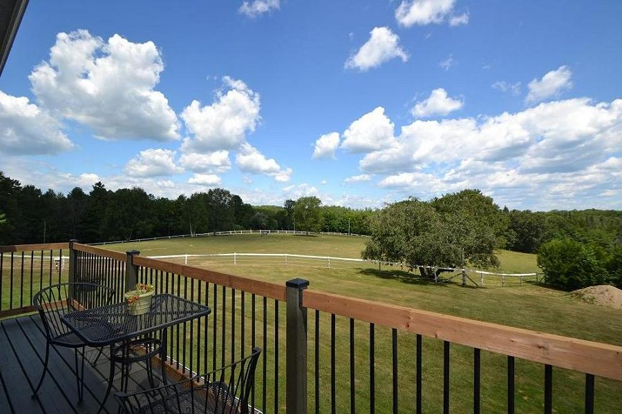The balcony overlooks rolling countryside replete with mature trees and beautiful fields. (Photo: Dan Parker)
