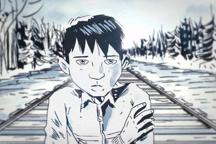 'The Secret Path', written and directed by the late Gord Downie with illustrations by Jeff Lemire, tells the story of 12-year-old Chanie Wenjack who died more than 50 years ago while trying to walk 600 kilometres to his northwestern Ontario home after fleeing a residential school in Kenora. (Illustration: Jeff Lemire)