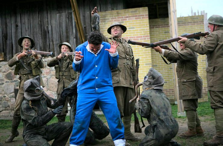 A scene from the original production of Wounded Soldiers at Winslow Farm in Millbrook in August 2014. 4th Line Theatre is taking the production on the road this November with 15 performances in Peterborough, Ottawa, and Belleville. (Photo: Wayne Eardley)