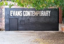 The new gallery space at Evans Contemporary is located in the Bankers Common, the courtyard of the Commerce Building on Water Street in downtown Peterborough (photo courtesy of Evans Contemporary)