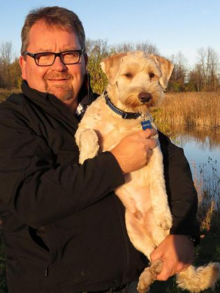 Lakeland funeral director Don Finlayson and his family will provide Bentley with his forever home when the pup is not busy making people feel better.