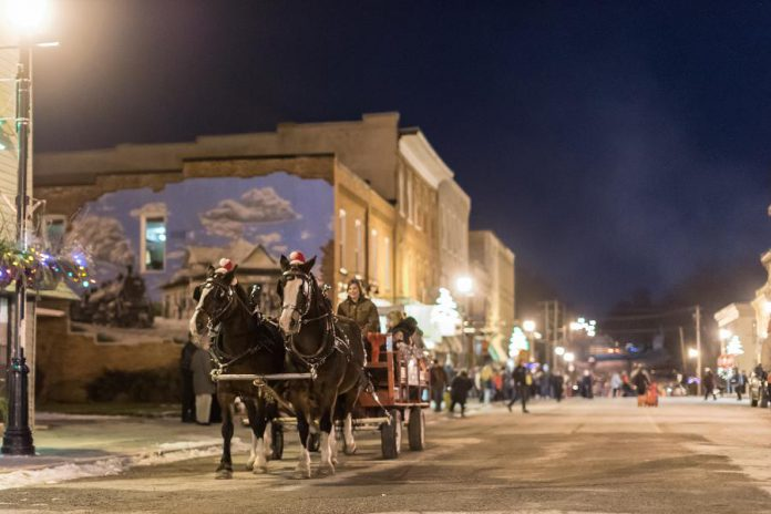 There'll be horse-drawn wagon rides on Thursday night (December 1) at Christmas in the Village in Millbrook (photo: Marjorie McDonald)