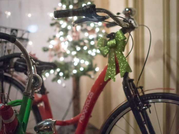 Who doesn't want a new bike for Christmas? Millbrook is filled with charming shops where you can find the perfect gift. (Photo: Marjorie McDonald)