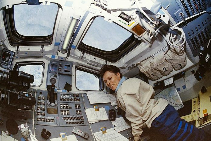 Dr. Roberta Bondar during her 1992 mission on the space shuttle Discovery. She will be delivering the keynote address for the annual Philanthropy Forum at a public event at Market Hall on November 16. (Photo: NASA)