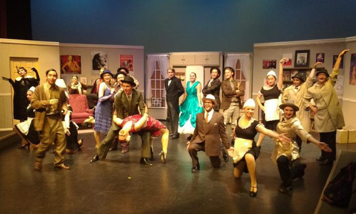 The cast of The Drowsy Chaperone, which runs from November 22 to 25 at Lakefield College School (photo: Sam Tweedle / kawarthaNOW)