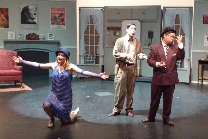 LJ Simmons as Kitty, Braeson Agar as The Man in the Chair, and Richard Xia as Felzieg (photo: Sam Tweedle / kawarthaNOW)