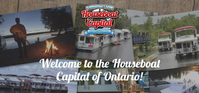 "Happy Days Houseboats and R&R Houseboat Rentals in Bobcaygeon and Egan Houseboats in Omemee joined forces and used Partnership Allocation funding to create the ""Kawartha Lakes Houseboat Capital of Ontario"" marketing campaign (photo: Kawartha Lakes Houseboat Capital of Ontario)"