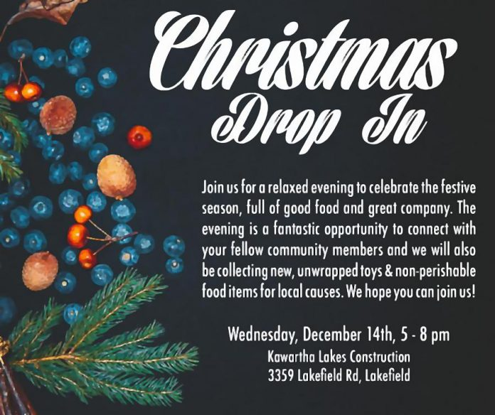 December Business After Hours is being held in conjunction with the annual Christmas Drop In at Kawartha Lakes Construction on December 14