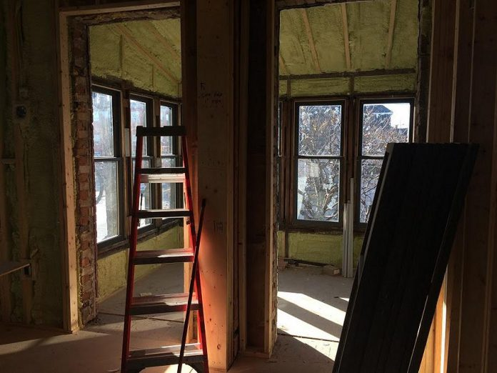 The upstairs apartments are being renovated for overflow seating with a view over Rubidge Street. (Photo: Eva Fisher)