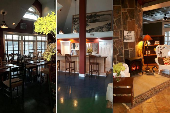 The Grill at the Burleigh Falls Inn is opening on November 23rd. The food and beverage partners are Jacqui and Sandra Turner from Cassis Bistro in Lakefield. (Photos: The Burleigh Falls Inn / Facebook)