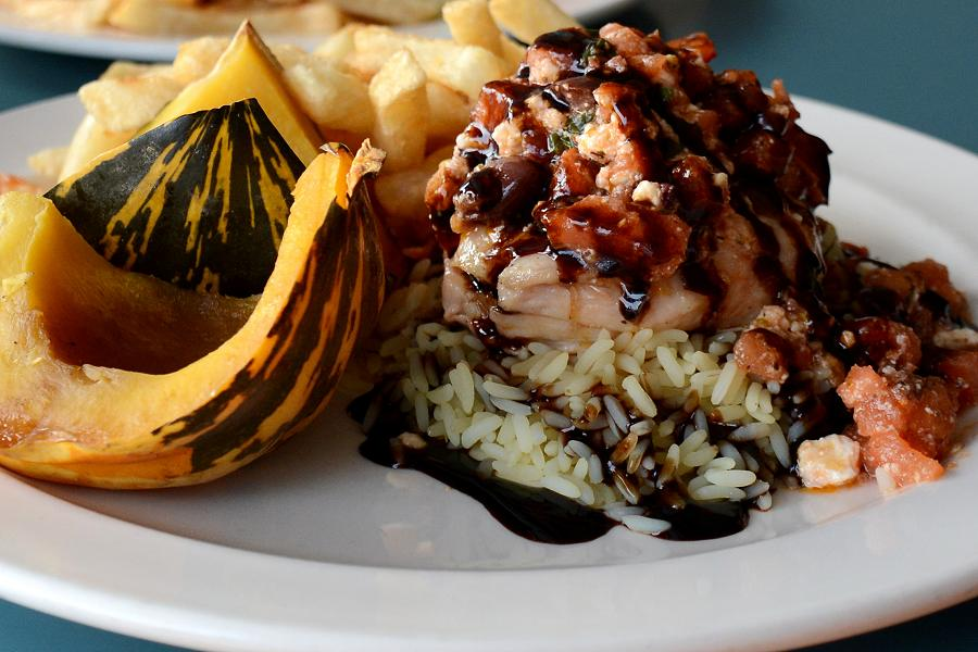The Olympia's Balsamic Chicken is made with olives from owner Nicki Dede's parents' olive farm. (Photo: Eva Fisher)