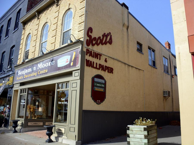 Scott's Decorating Centre has been a fixture in Lindsay's downtown core since 1955. (Photo: Eva Fisher)