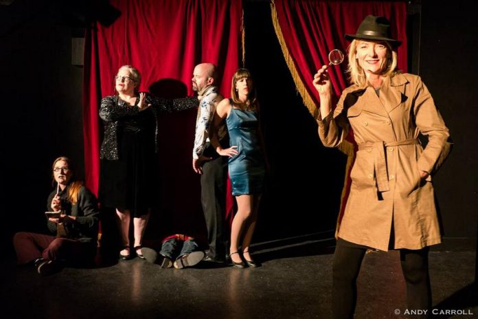 Marianne Vandelinde of RE/MAX Eastern Realty is your host (and sleuth) for a lunch-time murder mystery, featuring a star-studded cast of Peterborough favourites, that's a fundraiser for The Theatre on King (photo: Andy Carroll)