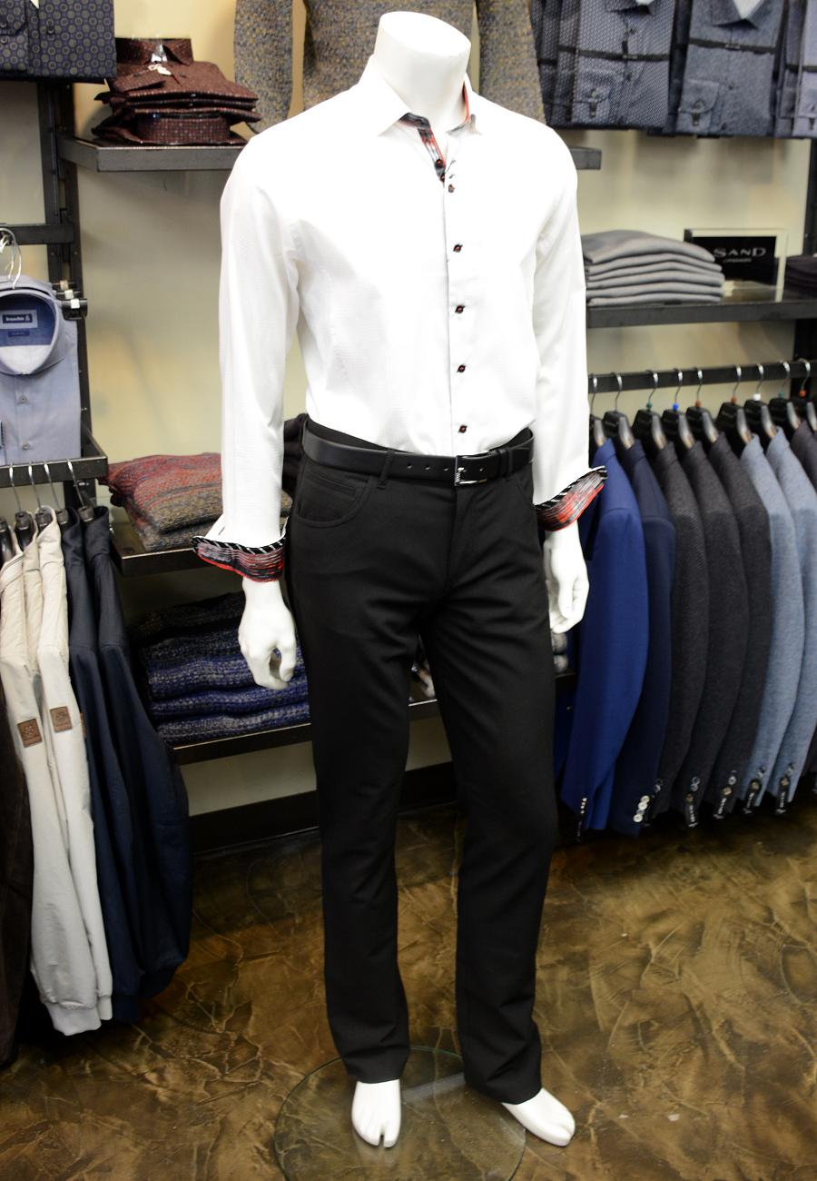 This Au Noir Shirt Is Dressed Up With Albert Ceramica Pants And A Hugo Boss  Belt