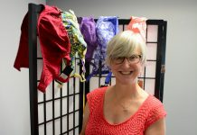 Bridget Leslie owns My Left Breast in downtown Peterborough. Her store offers fashionable and prosthesis friendly bras, swimwear, and more. (Photo: Eva Fisher)