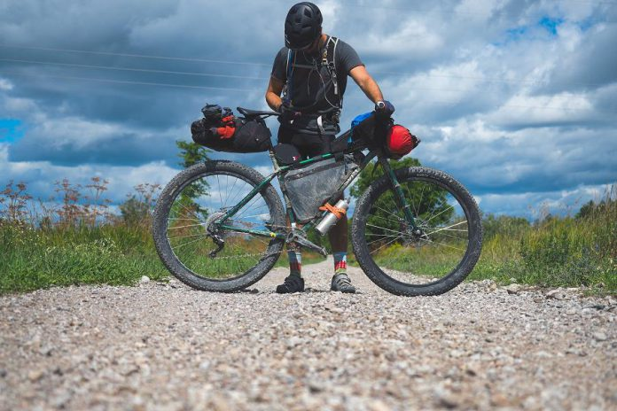 "Cyclist Miles Arbour recently ""bikepacked"" the 450-km Central Ontario Loop Trail. Many hundreds of kilometres of trails connect communities along the Trent-Severn Waterway, offering unique tourism opportunities for businesses in the Kawarthas. An interactive workshop on November 29 will showcase the benefits of strengthening the linkages between these communities. (Photo: Miles Arbour)"