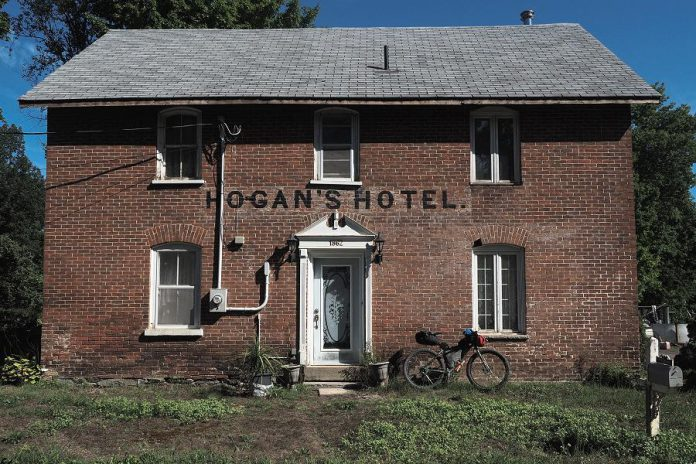 "Now a private residence, Hogan's Hotel was built in 1862 in the former mill operations town of Millbrook in Hastings County. Historical attractions near trails are an example of a ""unique selling proposition"" to attract visitors. (Photo: Miles Arbour)"