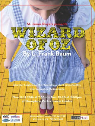 The Wizard of Oz runs until November 20 at Showplace Performance Centre (poster: St. James Players)
