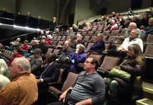 Members of the public at Peterborough's Market Hall, almost all opposed to the proposed sale, left disappointed when City Council voted 6-5 in favour of selling the electricity distribution utility to Hydro One (photo; Paul Rellinger / kawarthaNOW)
