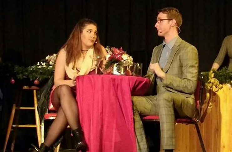 """Keely Wilson and Erik Feldcamp are wonderful as Casey and Aaron in Amber Coast Theatrical's production of """"First Date - The Musical"""" (photo: Sam Tweedle / kawarthaNOW)"""