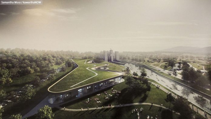 View of the new design looking north (photo: Samantha Moss / kawarthaNOW)