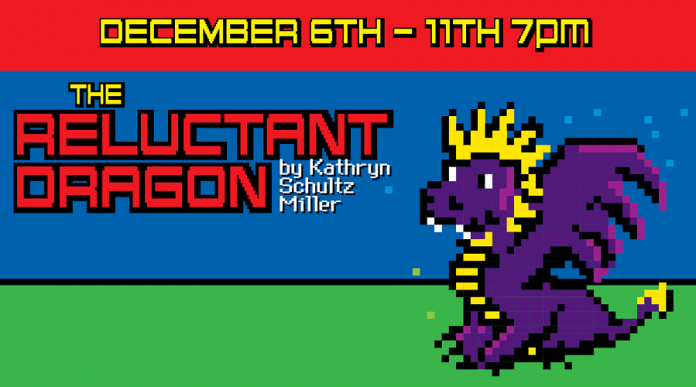 "Peterborough Theatre Guild's production of ""The Reluctant Dragon"", reimagined as an 8-bit video game, takes place December 6 to 11 (poster: Peterborough Theatre Guild)"