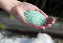 The GreenUP Store carries Clean and Green Ice Melter by Swish, an alternative to salt that's gentle on vegetation, concrete, water, and floors. It's not corrosive and is completely safe to handle with bare hands, so it's safer around children and pets, too. (Photo: Karen Halley)