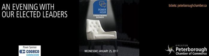 The annual Chamber of Commerce Power Hour takes place on Wednesday, January 25 (image: Peterborough Chamber)