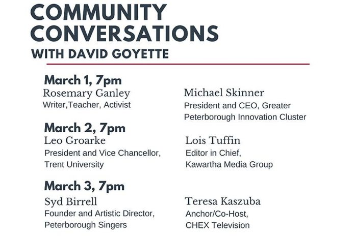 Community Conversations features David Goyette interviewing six people over three nights