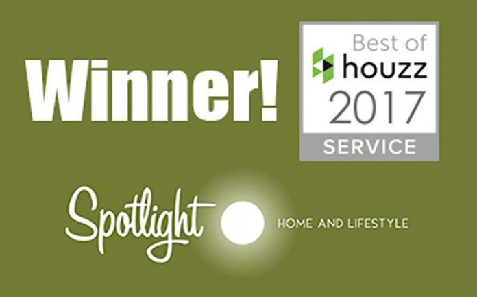 Spotlight Home and Lifestyle has won a customer service award from home remodeling and design website Houzz