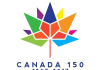 The official Canada 150 logo by Ariana Cuvin, a University of Waterloo student from Toronto who won a nation-wide design competition among Canadian students. The base of the maple leaf has four diamonds to signify the four provinces that formed Confederation in 1867.