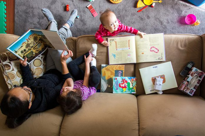 Talking, listening, playing, and reading with children helps them develop strong literacy skills for life (photo: David D/Flickr, CC BY 2.0)