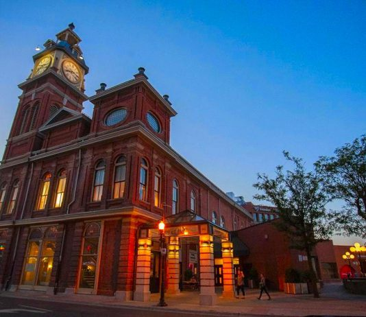 Market Hall Performing Arts Centre, featuring Peterborough's iconic clock tower, is located at 140 Charlotte Street in downtown Peterborough (photo: Bradley Boyle)