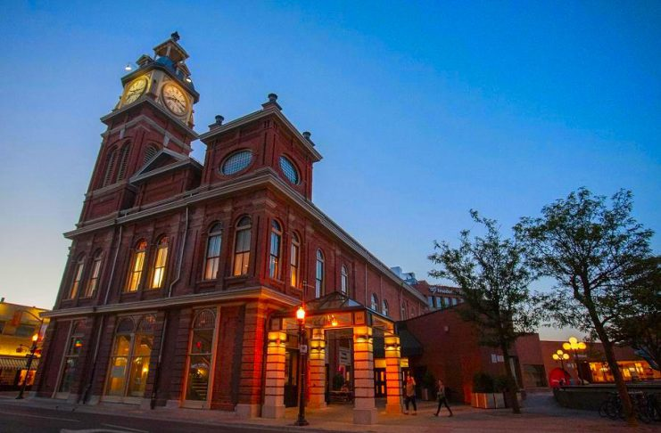 Market Hall Performing Arts Centre, featuring Peterborough's iconic clock tower, is located at 140 Charlotte Street in downtown Peterborough. (Photo: Bradley Boyle)