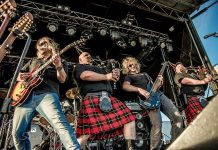 Canadian Celtic rockers Mudmen -- Mike Meacher, Sandy Campbell, Dan Westenenk, Robby Campbell, and Jeremy Burton (not pictured) -- return to Peterborough's Market Hall on January 14 (photo courtesy of Mudmen)