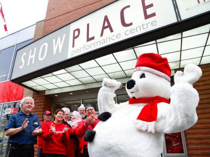 Snofest Pete kicks off the Snofest lineup with the help of his friends from Showplace and the Snofest Committee (photo: Snofest Peterborough)