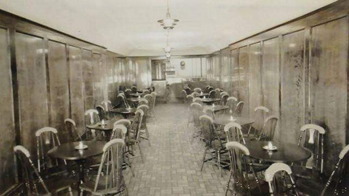 The interior of the Pig's Ear Tavern circa 1920. The bar opened in 1865 as St. Maurice Saloon and was subsequently known as the St. Lawrence Hotel, the Windsor Hotel, and the Bucket of Blood. (Photo: The Pig's Ear / Facebook)