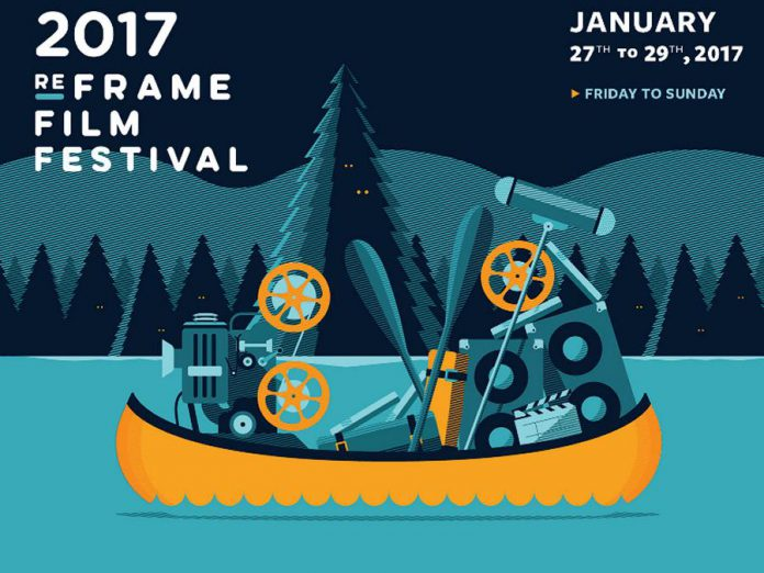 ReFrame Film Festival runs from January 27 to 29 with screenings and special events at the Market Hall and other venues in downtown Peterborough (graphic: ReFrame)