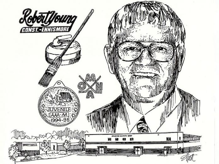 Robert Young (graphic: Peterborough and District Sports Hall of Fame)