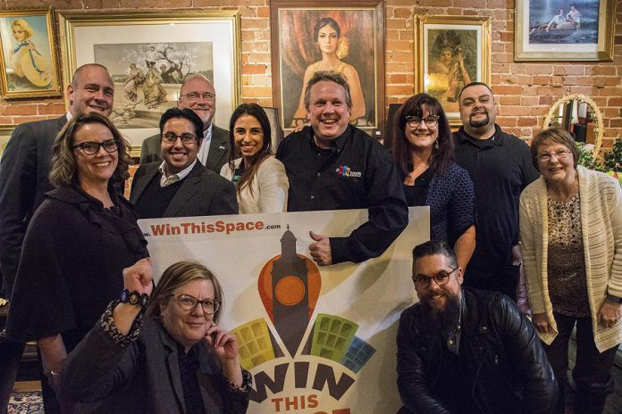 The Win This Space judges, at Catalina's in downtown Peterborough on January 19, have selected the 10 finalists in the competition (photo: Peterborough DBIA)
