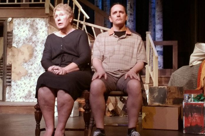 The real emotional twist comes with Linda Driscoll's appearance as Anna near the end of the first act (photo: Sam Tweedle / kawarthaNOW)