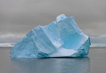 """Blue Ice"", a large-scale photograph by Arnold Zageris from his latest series ""Antarctica"" (photo courtesy of Christensen Fine Art)"