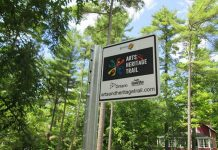 Each stop on the Kawartha Lakes Arts and Heritage Trail is marked with a roadside sign (photo: City of Kawartha Lakes)