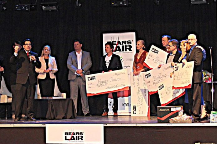 The winners of last year's Bears' Lair competition included Rob Howard of Kawartha Local and Rick Dolishny of BlushDrop (photo: Bears' Lair)