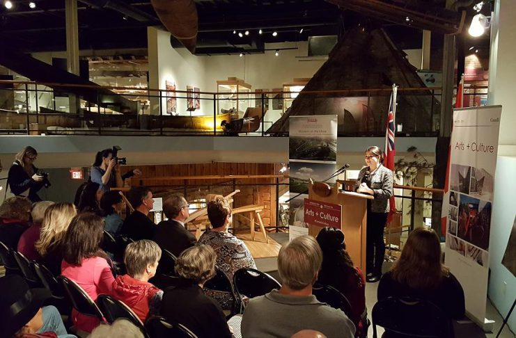 On February 24, 2017, Peterborough-Kawartha MP Maryam Monsef announced over $1.4 million in cultural funds for The Canadian Canoe Museum on behalf of the Honourable Mélanie Joly, Minister of Canadian Heritage (photo: Jeannine Taylor / kawarthaNOW)