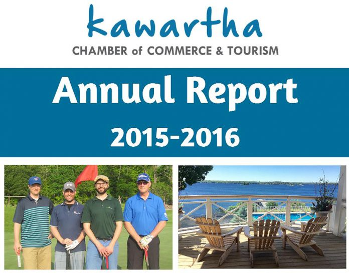 The Kawartha Chamber of Commerce & Tourism's 2015-2016 Annual Report is now available