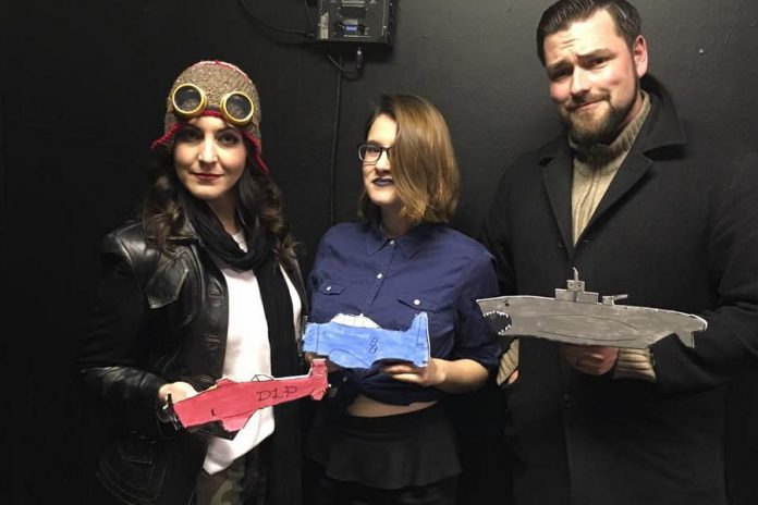 """Megan Murphy on set, with Kate Ethier and Mike Judson, from the """"Dr. Lady Pilot"""" episode (photo: Sarah Tye)"""