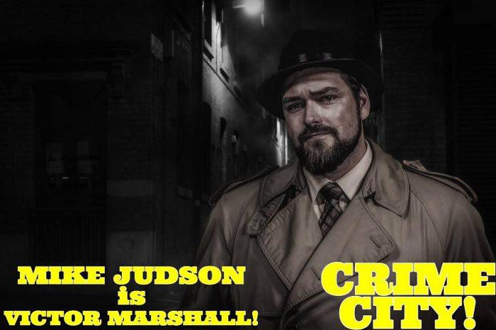 CHEX TV personality Mike Judson plays hardboiled private detective Victor Marshall. (Photo: Adam Martignetti)