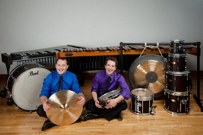 Brennan Connolly and Dave Robilliard of Duo Percussion