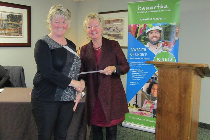 Lynn Woodcroft of Royal LePage Frank Real Estate is the Kawartha Chamber of Commerce & Tourism's Professional Development Sponsor for 2017-18